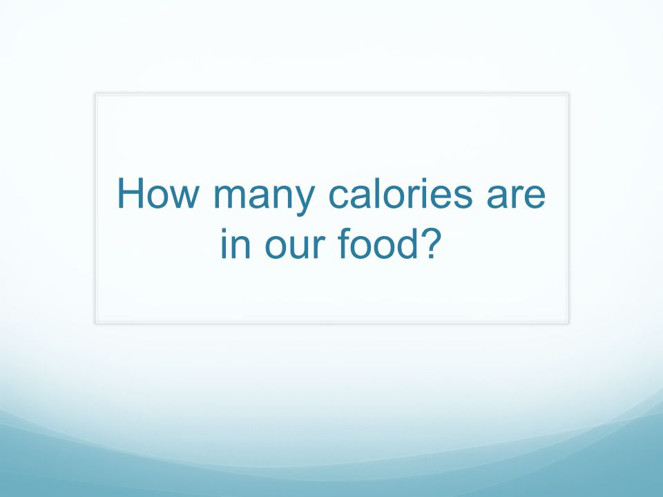 What are 'calories' in food.