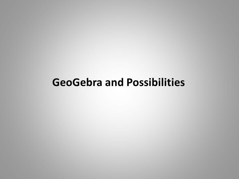 GeoGebra and Possibilities