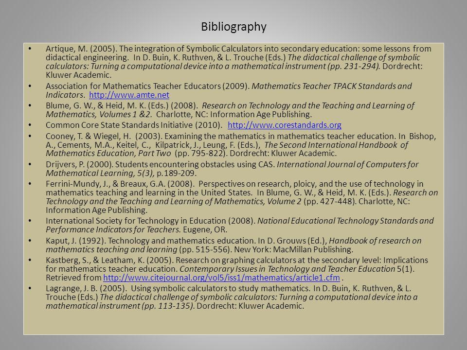 Bibliography Artique, M. (2005).