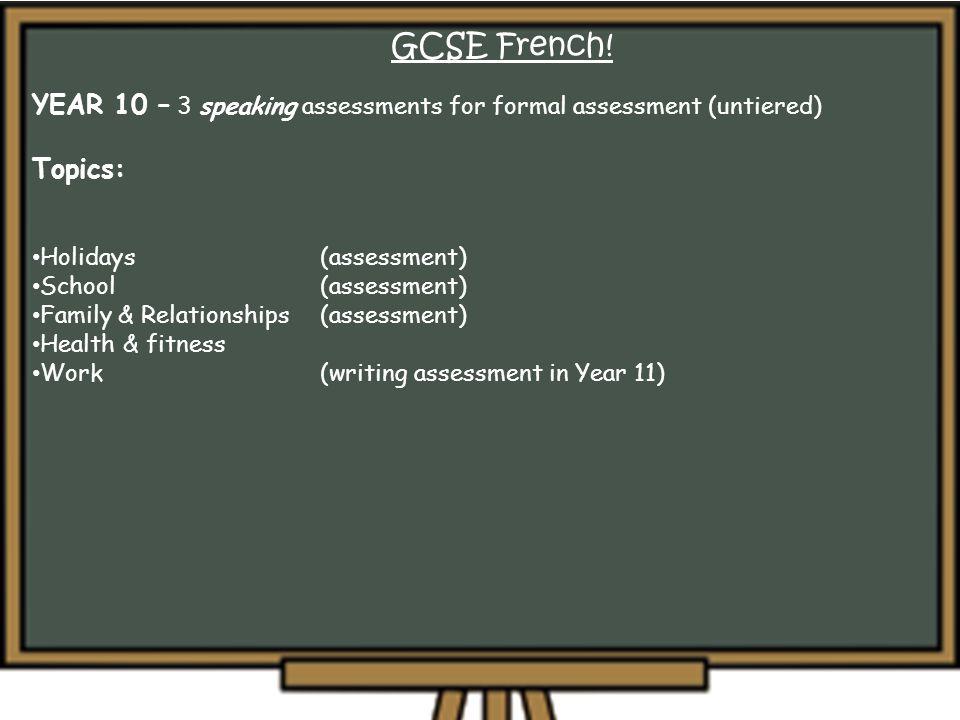 GCSE French.