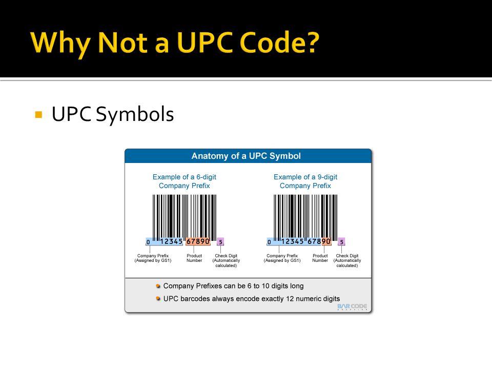  UPC Symbols