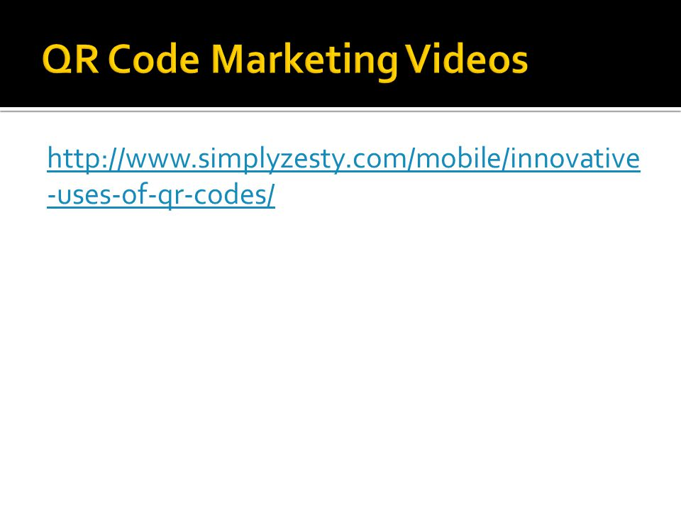 http://www.simplyzesty.com/mobile/innovative -uses-of-qr-codes/