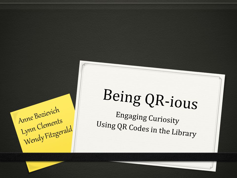 So what are QR codes.