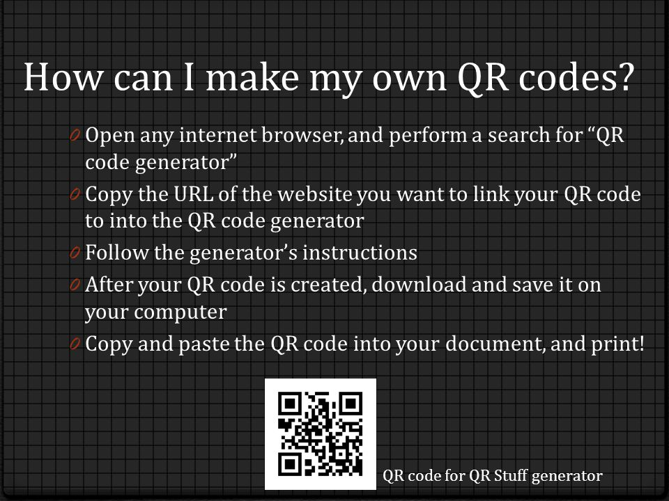 How can I make my own QR codes.