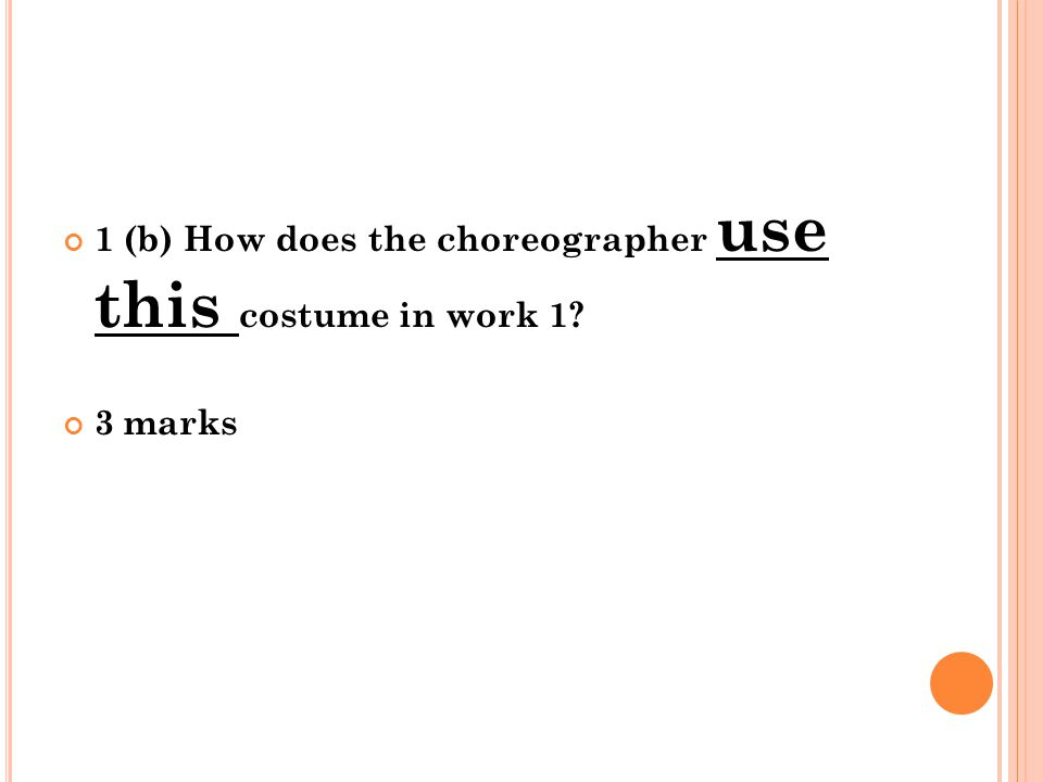 2 (a) What type of accompaniment is used in one of the professional dance works that you have studied.
