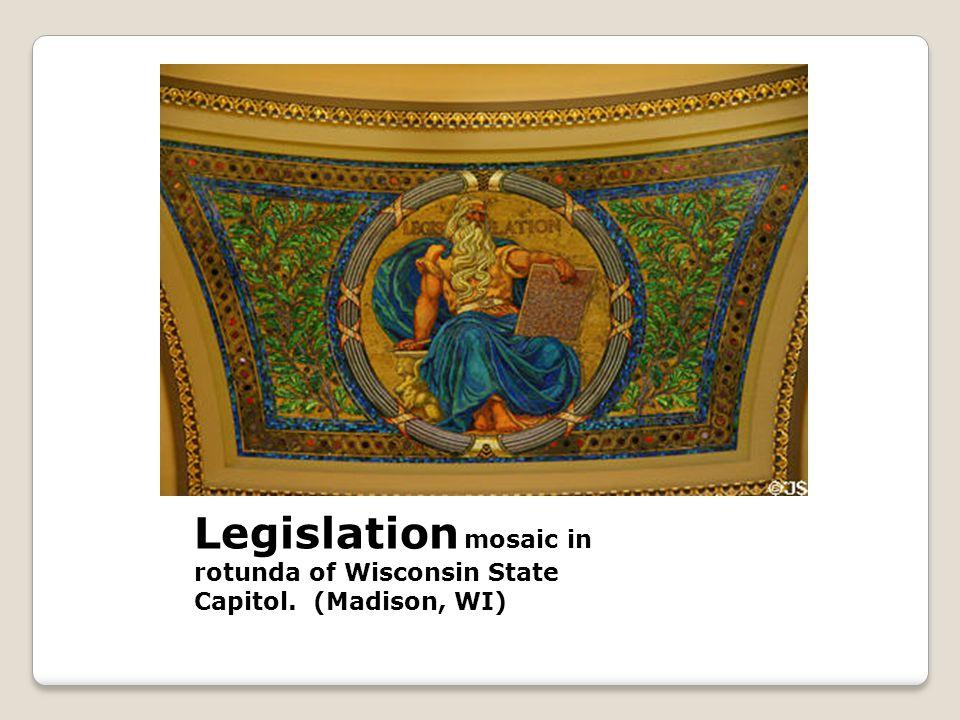 Legislation mosaic in rotunda of Wisconsin State Capitol. (Madison, WI)