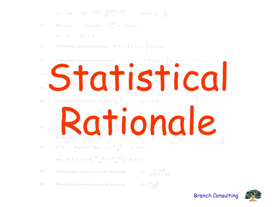 Branch Consulting Statistical Rationale