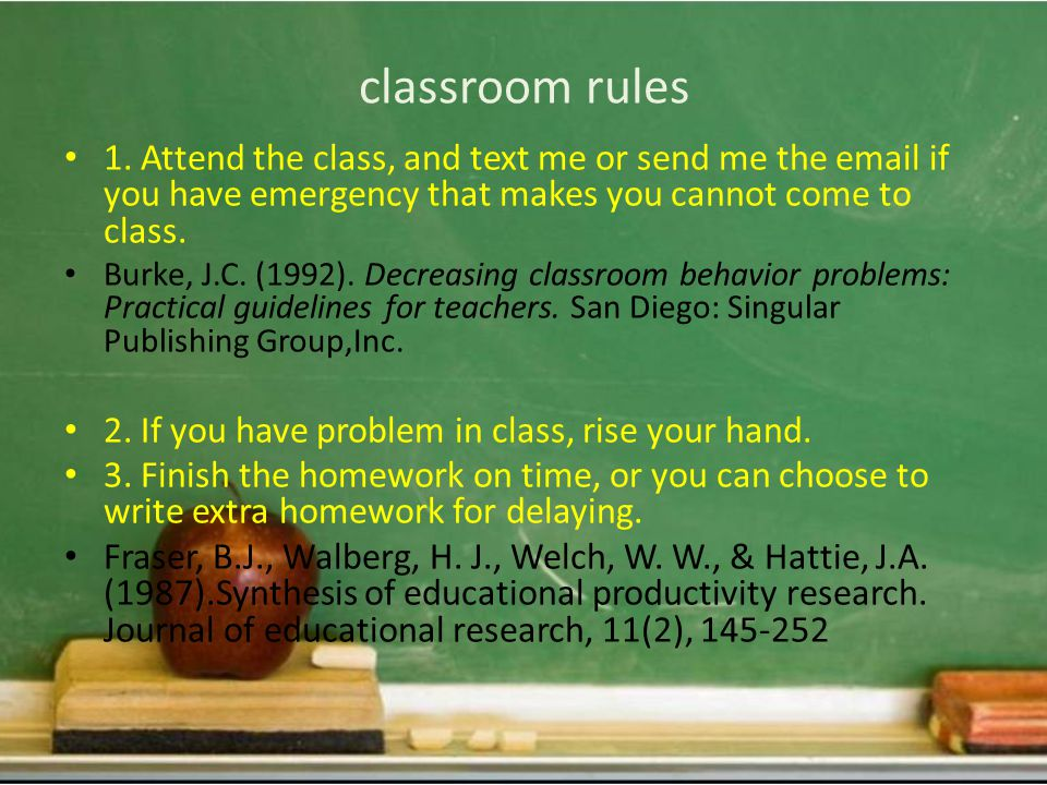 classroom rules 1.