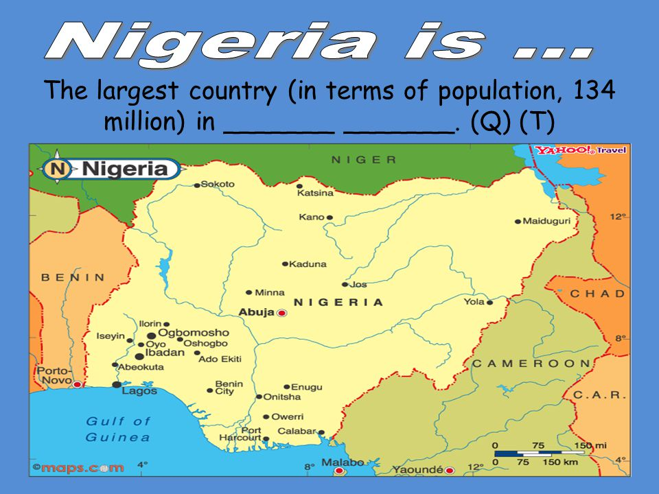 The largest country (in terms of population, 134 million) in _______ _______. (Q) (T)