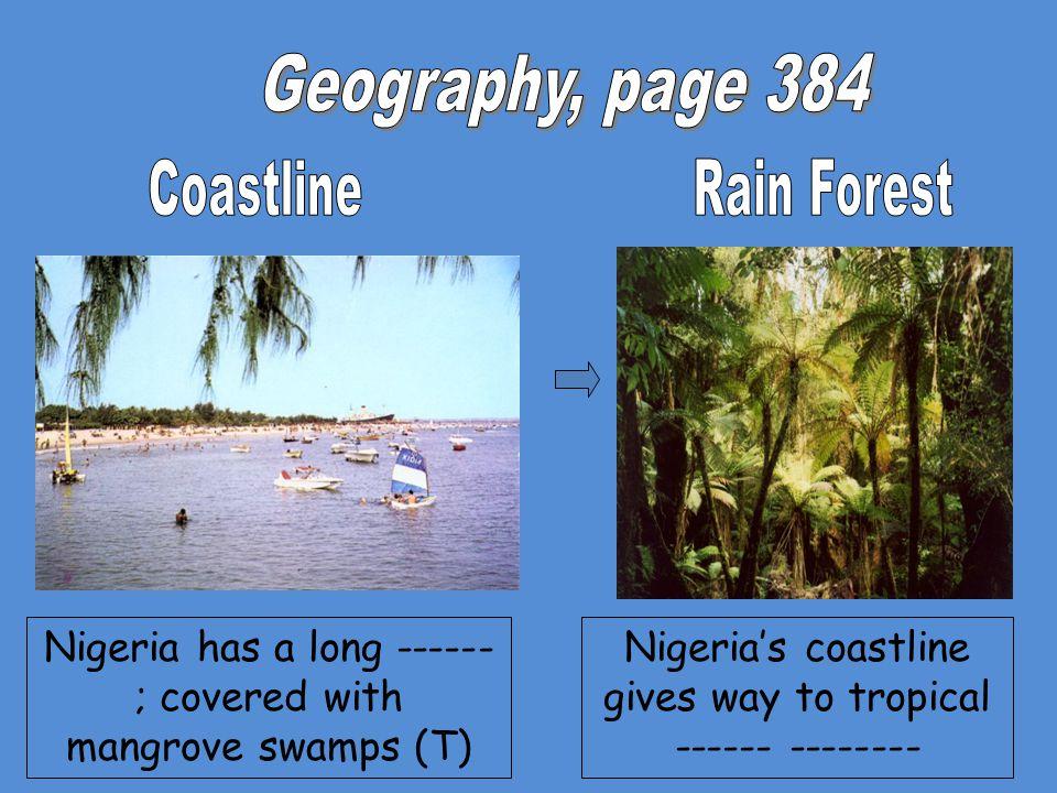 Nigeria's coastline gives way to tropical ------ --------
