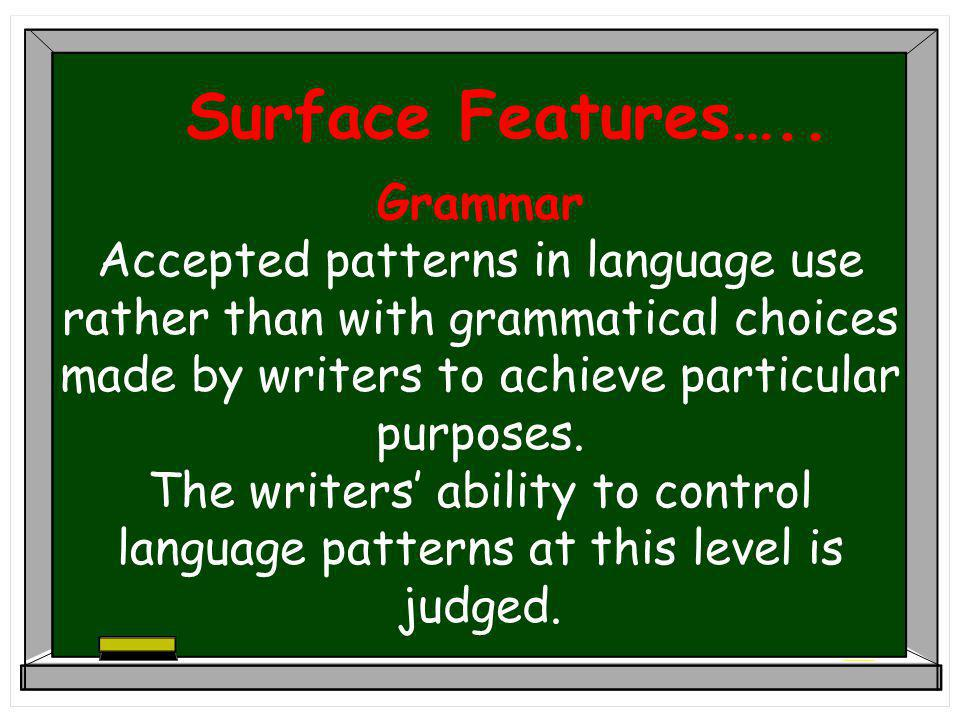 Surface Features…..