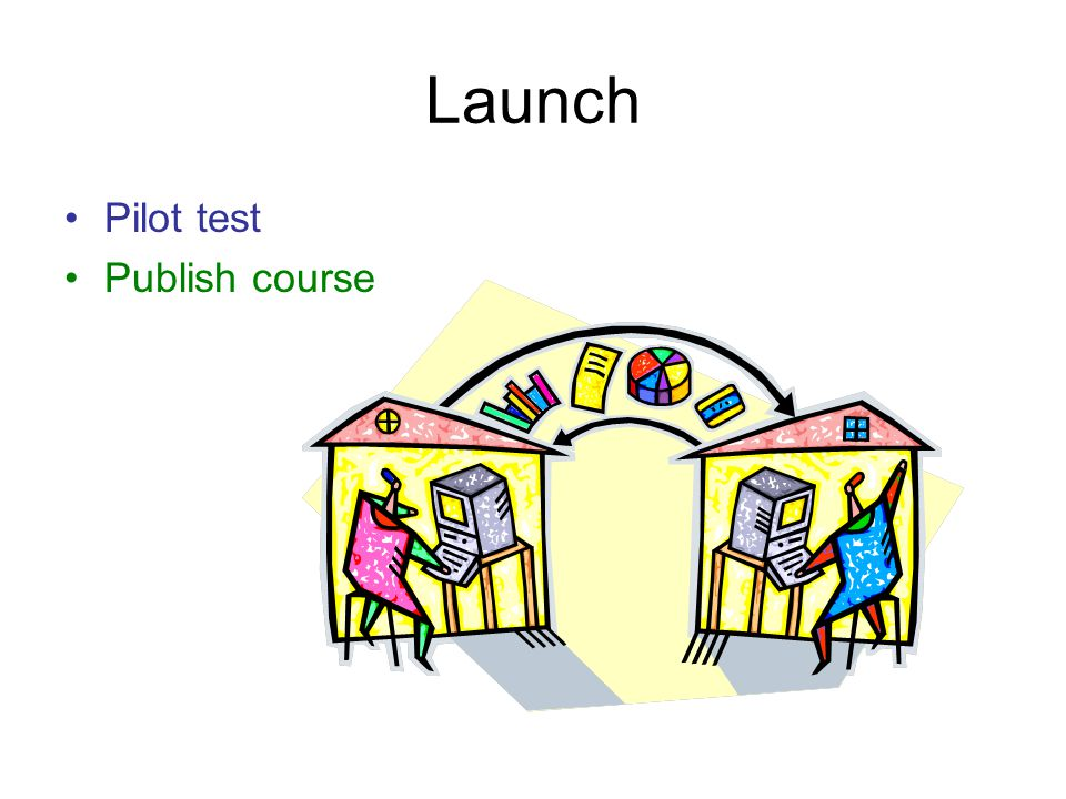 Launch Pilot test Publish course