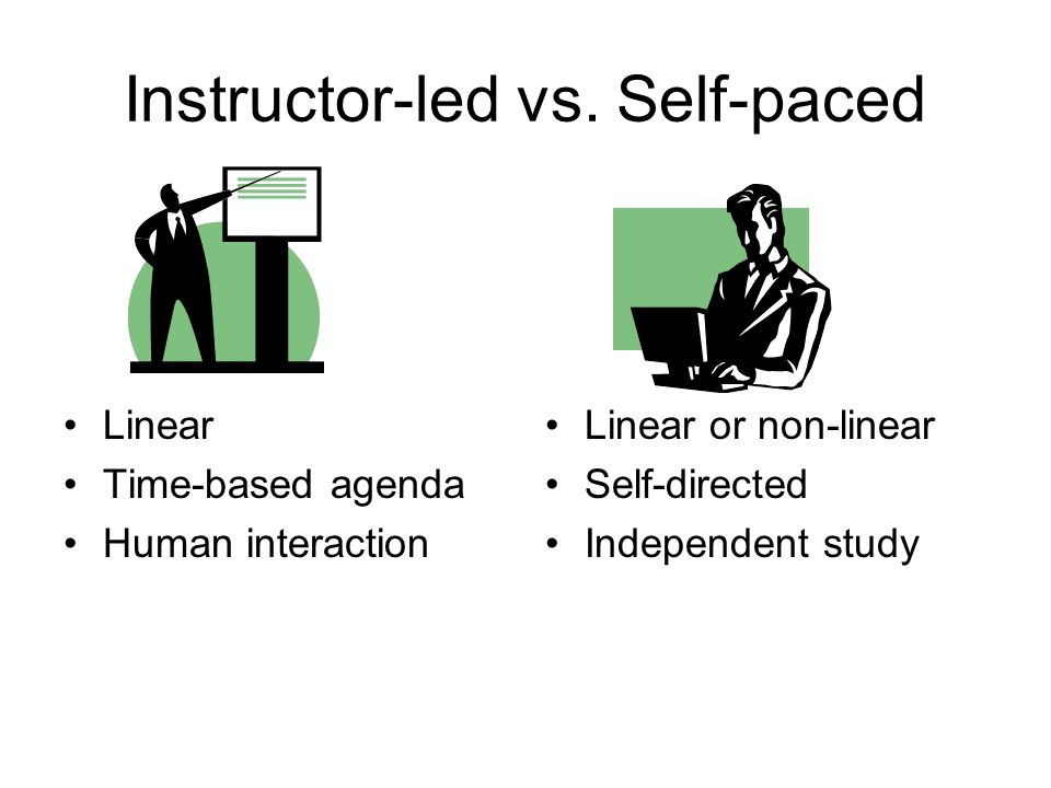 Instructor-led vs.