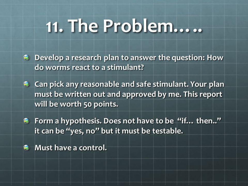 11.The Problem…..
