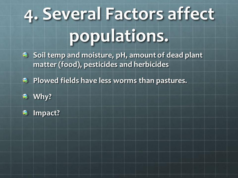 4.Several Factors affect populations.