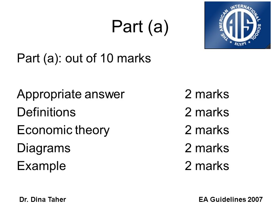 EA Guidelines 2007Dr. Dina Taher Paper 1 Read the essay guidelines: 'Things to remember when writing your essay' The essay is graded out of 25. Miss D