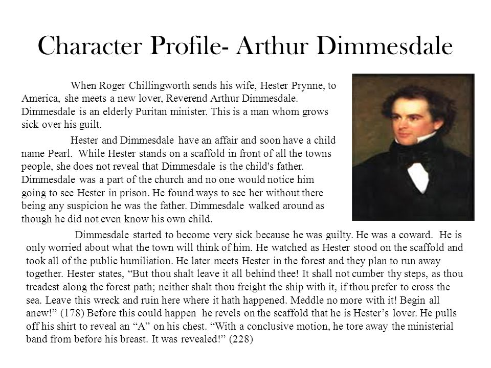 Arthur dimmesdale character analysis essay
