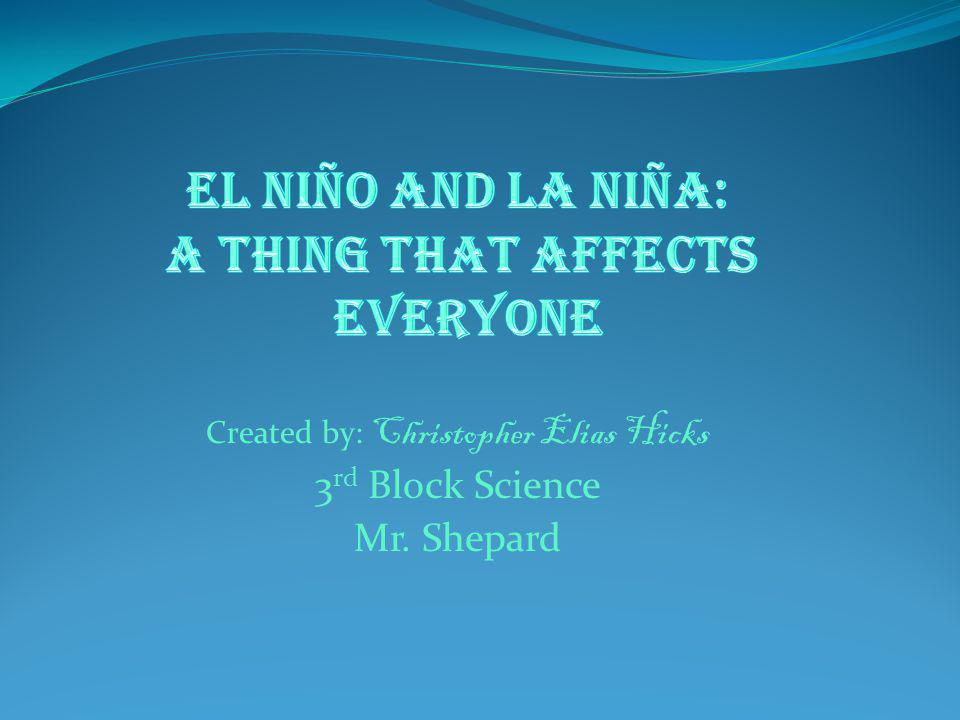 Created by: Christopher Elias Hicks 3 rd Block Science Mr. Shepard