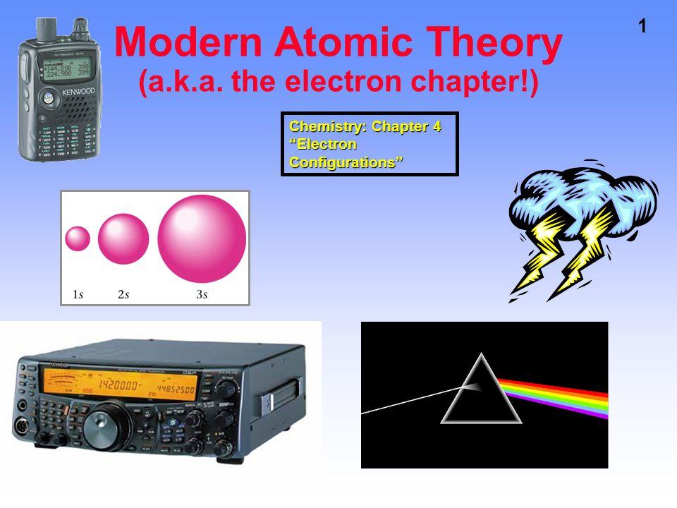 1 Modern Atomic Theory (a.k.a.