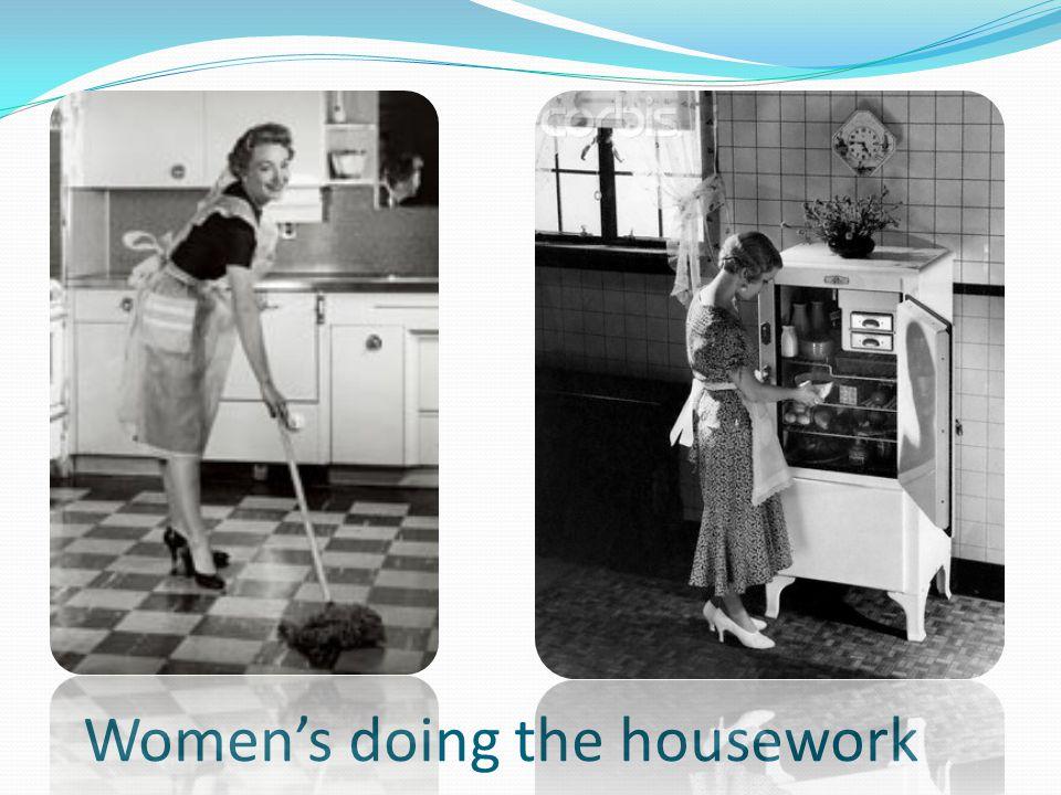 Women's doing the housework