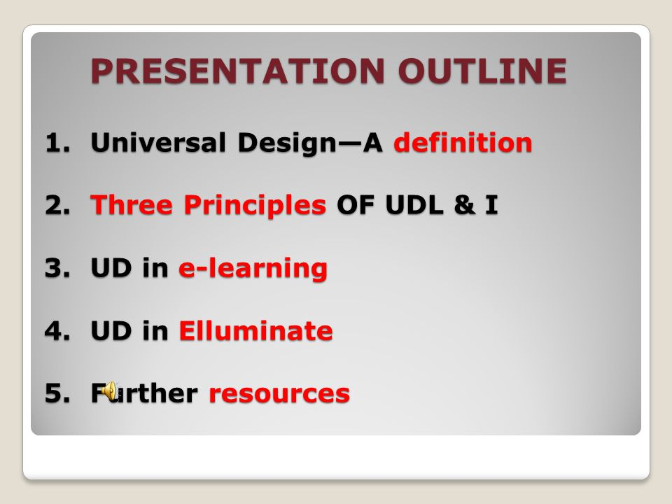 STRATEGIES – UNIVERSAL DESIGN IN E-LEARNING ENVIRONMENTS By Mary Gerard, Disability Support Services and Judi Wise, Basic Academic Skills
