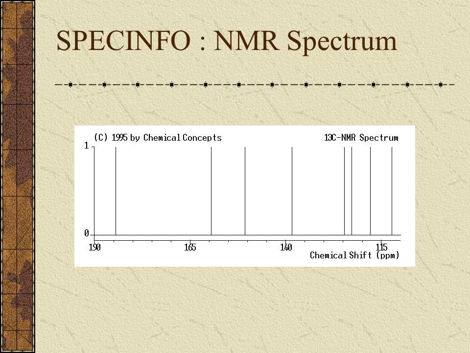 SPECINFO : NMR Spectrum