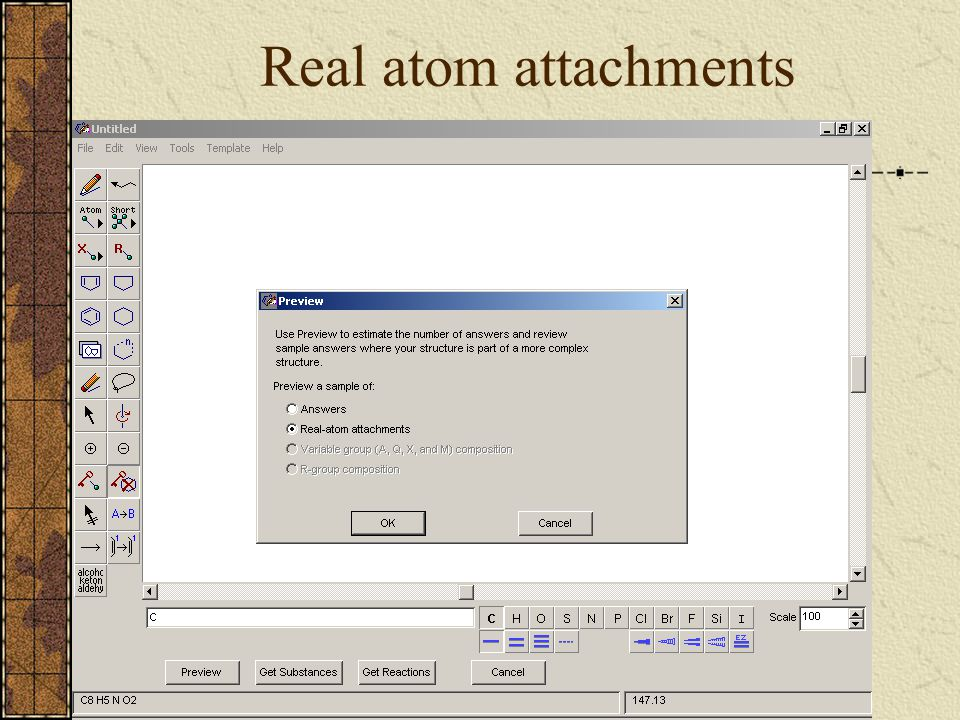 Real atom attachments