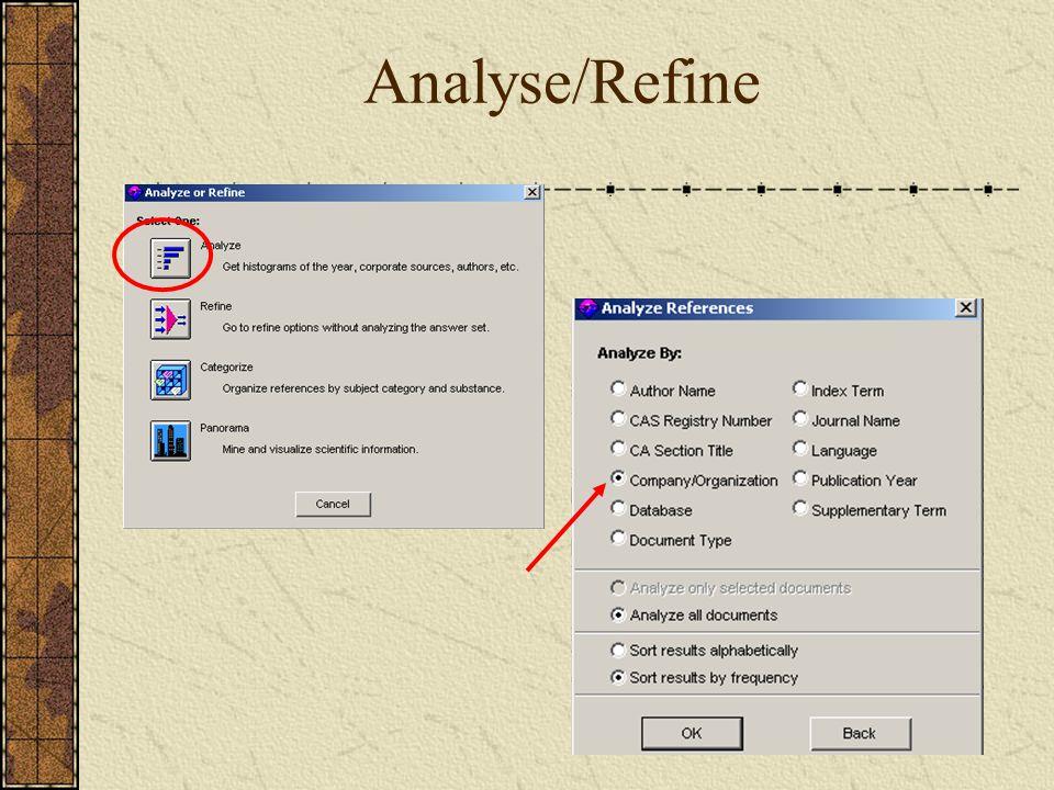 Analyse/Refine