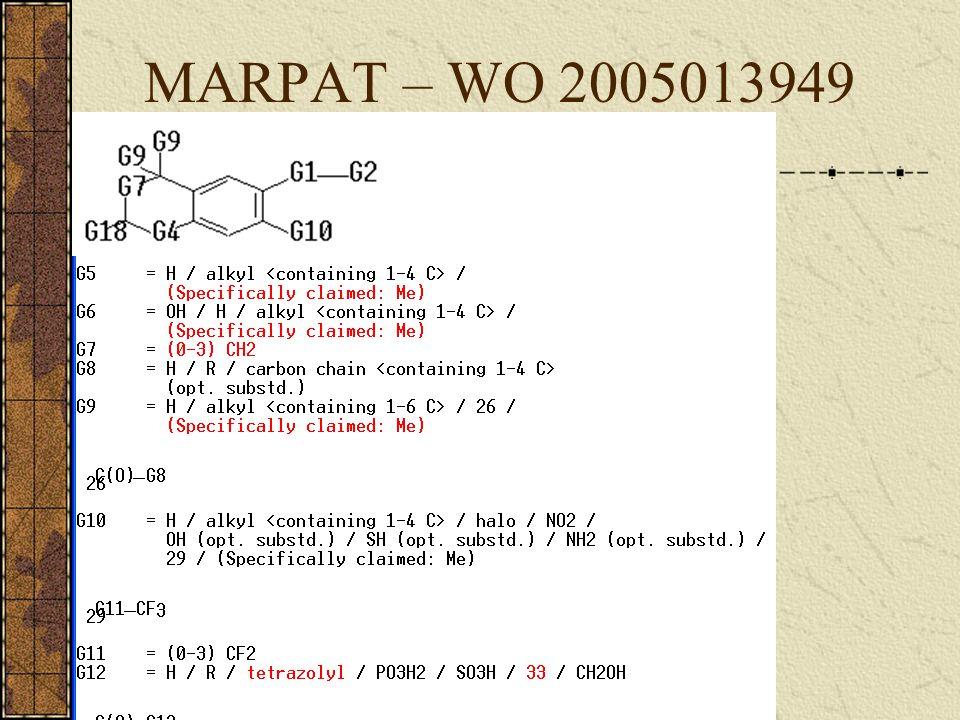 MARPAT – WO 2005013949