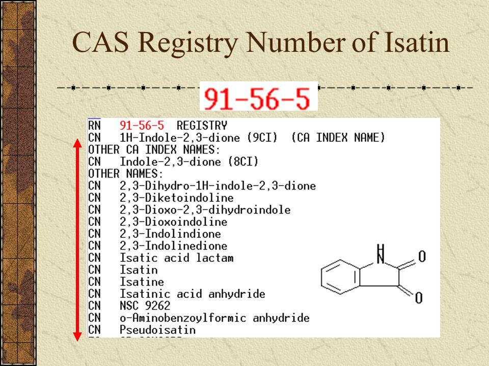 CAS Registry Number of Isatin