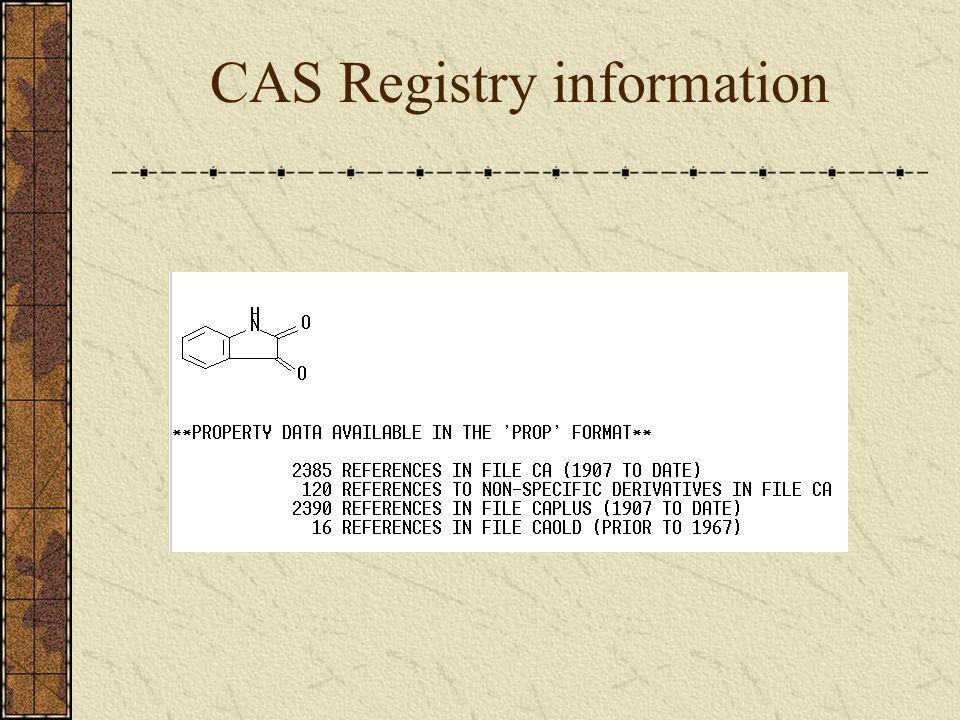 CAS Registry information