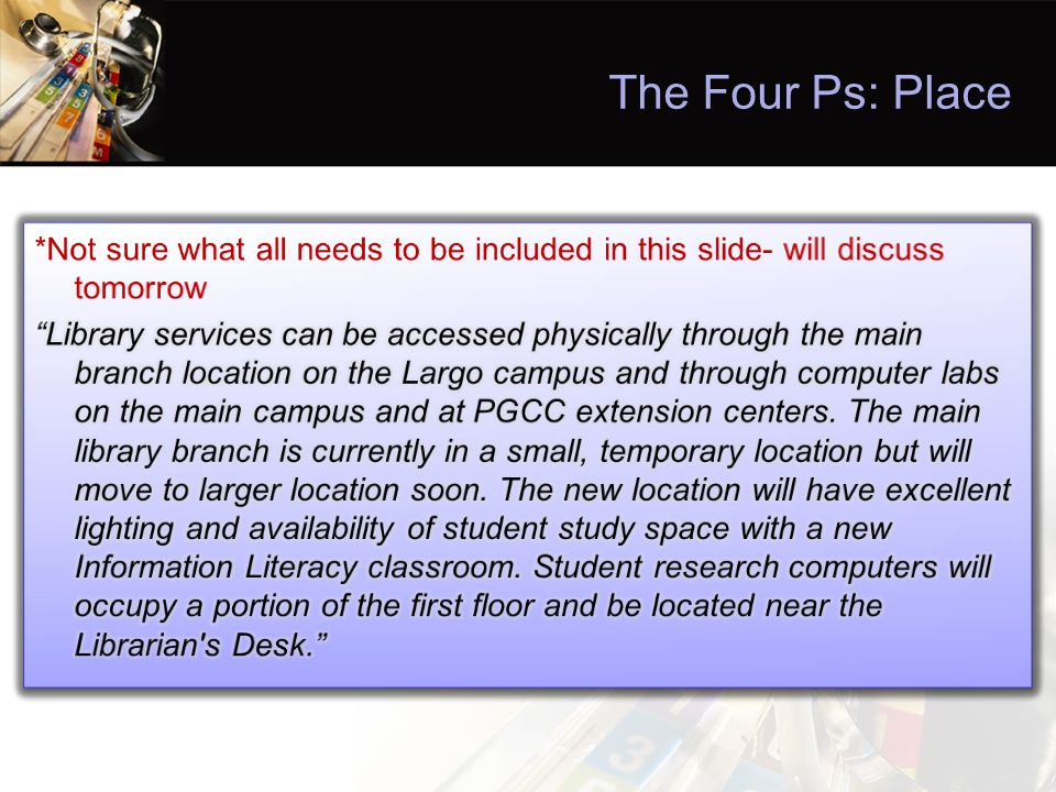 The Four Ps: Place