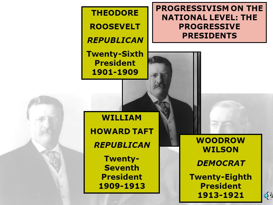 THEODORE ROOSEVELT (1858-1919) TWENTY-SIXTH PRESIDENT 1901-1909: REPUBLICAN I declined to adopt the view that what was imperatively necessary for the Nation could not be done by the President unless he could find some specific authorization to do it.