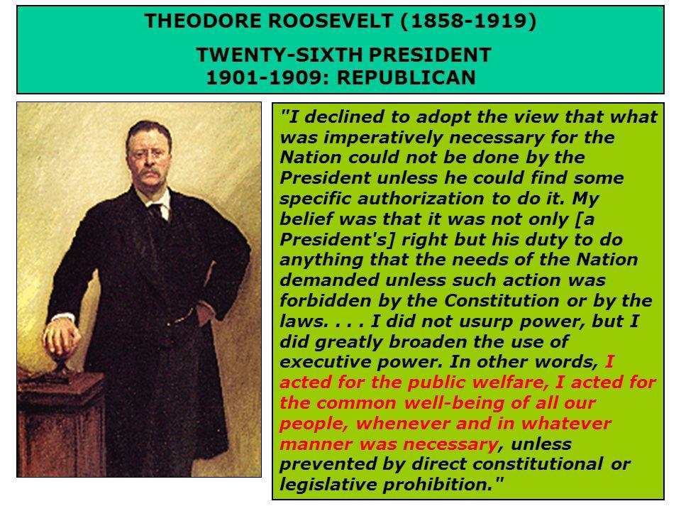 TR'S PROGRESSIVE AGENDA THE SQUARE DEAL When I say I believe in a square deal I do not mean...