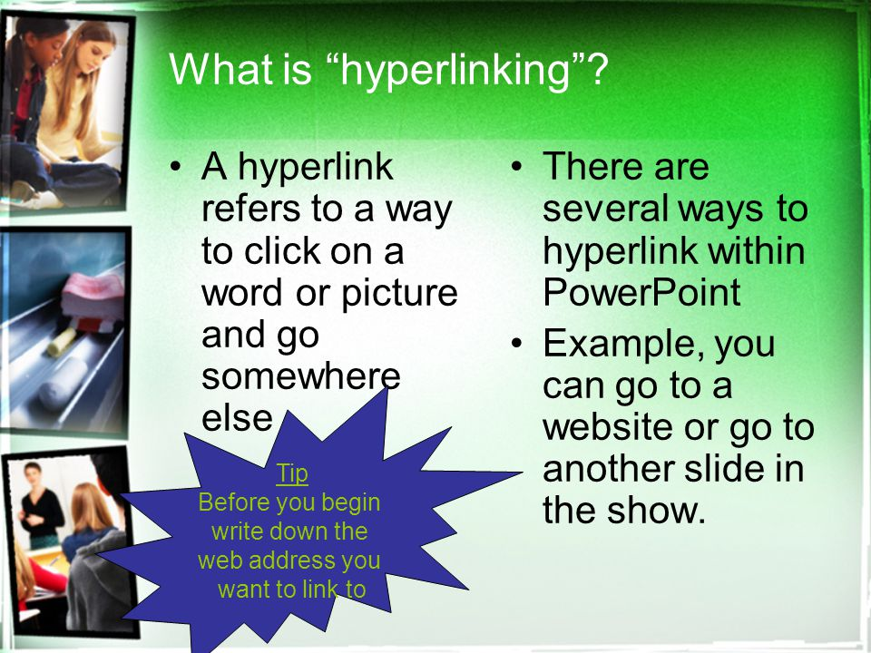 What is hyperlinking .
