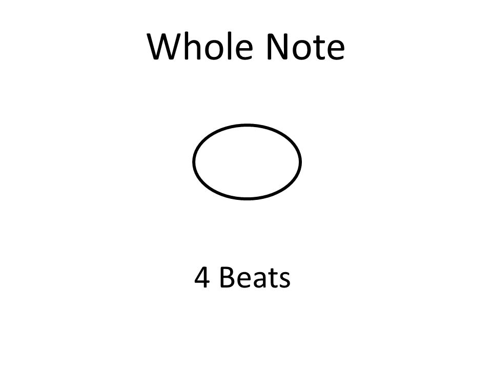 Whole Note 4 Beats