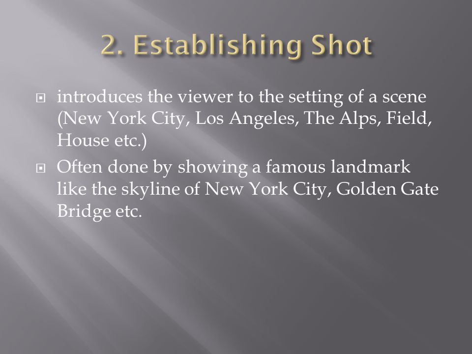  The name already explains the shot's meaning: It shows the character's reaction to a dramatic situation.