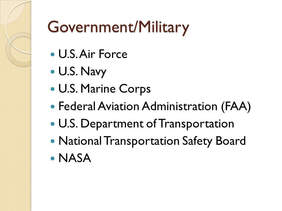 Government/Military U.S.Air Force U.S. Navy U.S.