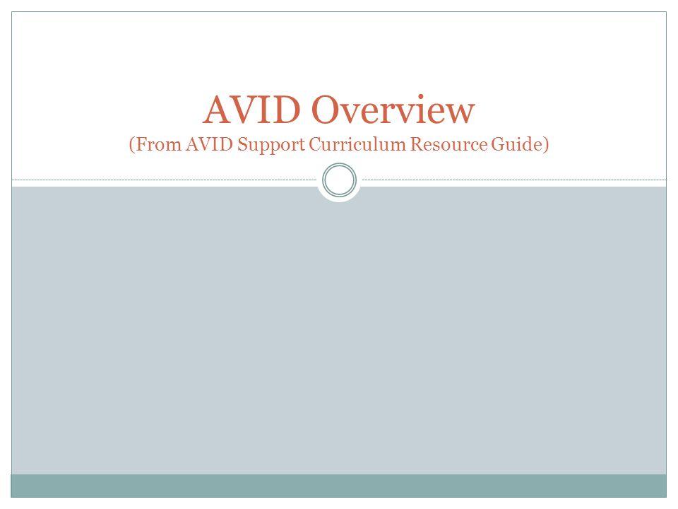 Expectations: AVID Student 3.