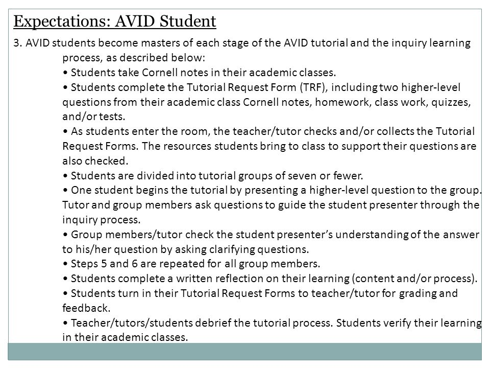 Avid Overview From Avid Support Curriculum Resource Guide  Ppt