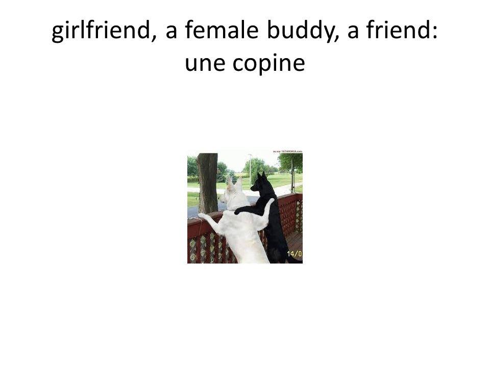 girlfriend, a female buddy, a friend: une copine