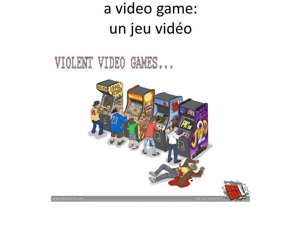 a video game: un jeu vidéo