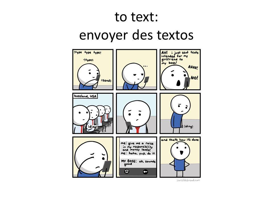 to text: envoyer des textos
