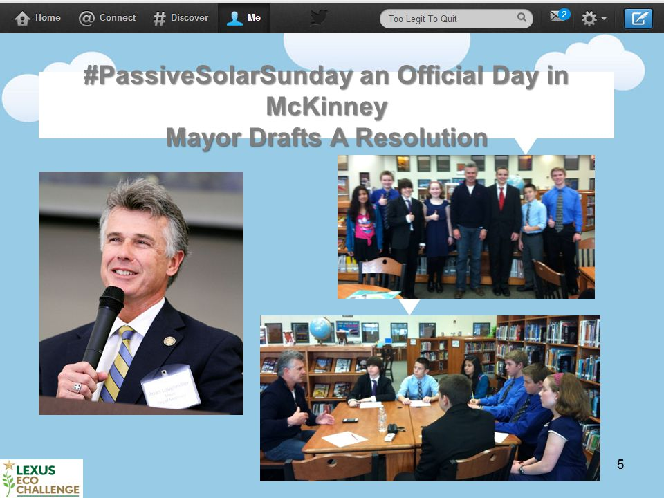 5 #PassiveSolarSunday an Official Day in McKinney Mayor Drafts A Resolution