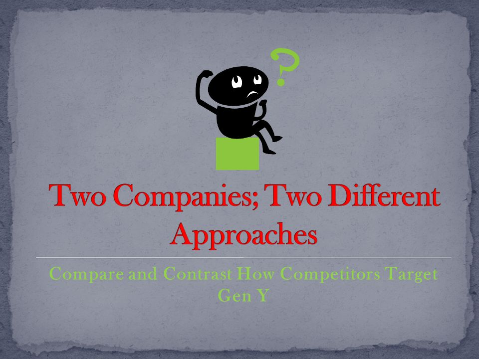 Compare and Contrast How Competitors Target Gen Y