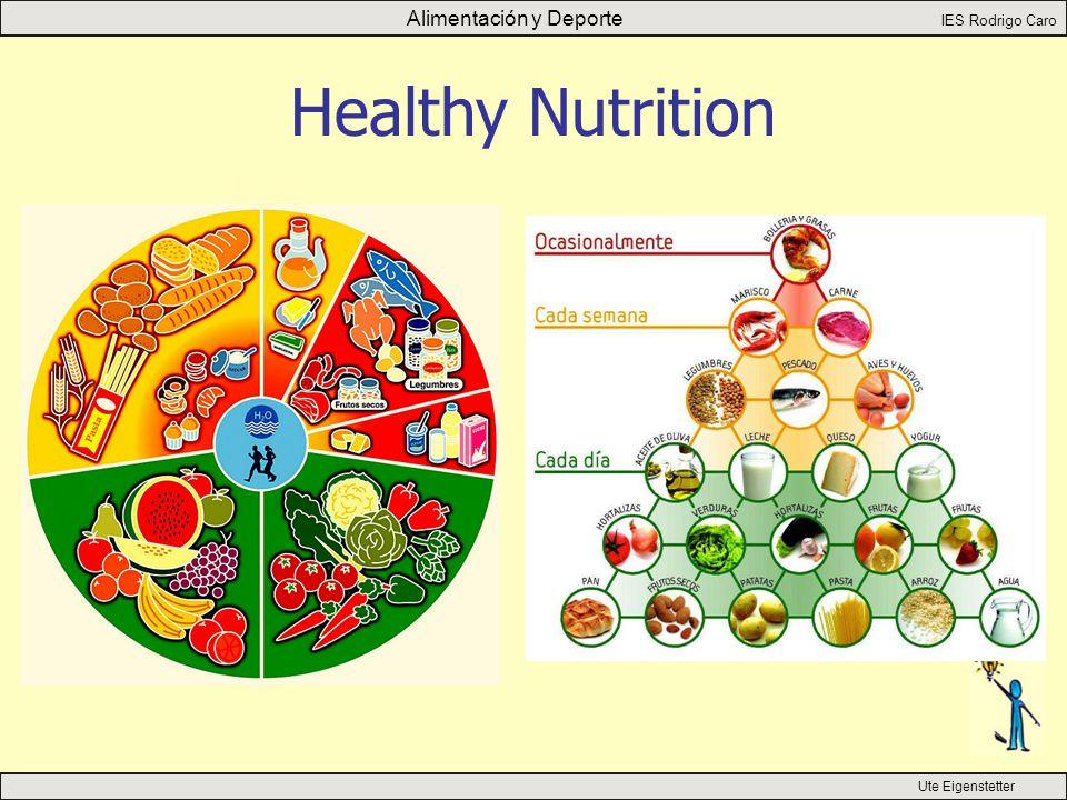 Alimentación y Deporte IES Rodrigo Caro Ute Eigenstetter Healthy Nutrition