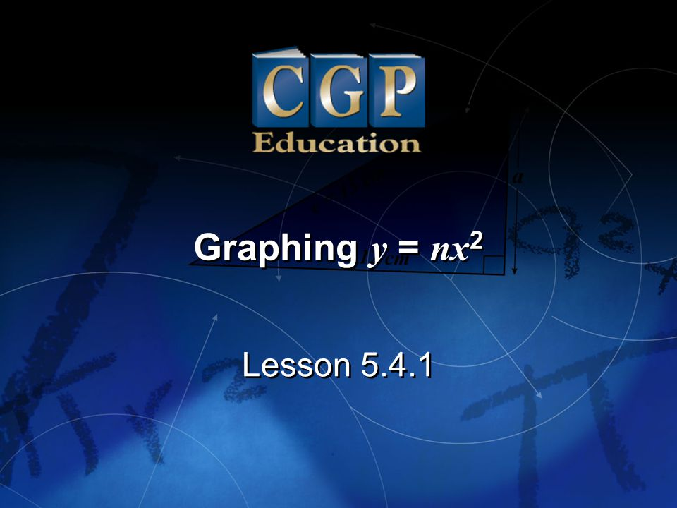 1 Lesson 5.4.1 Graphing y = nx 2