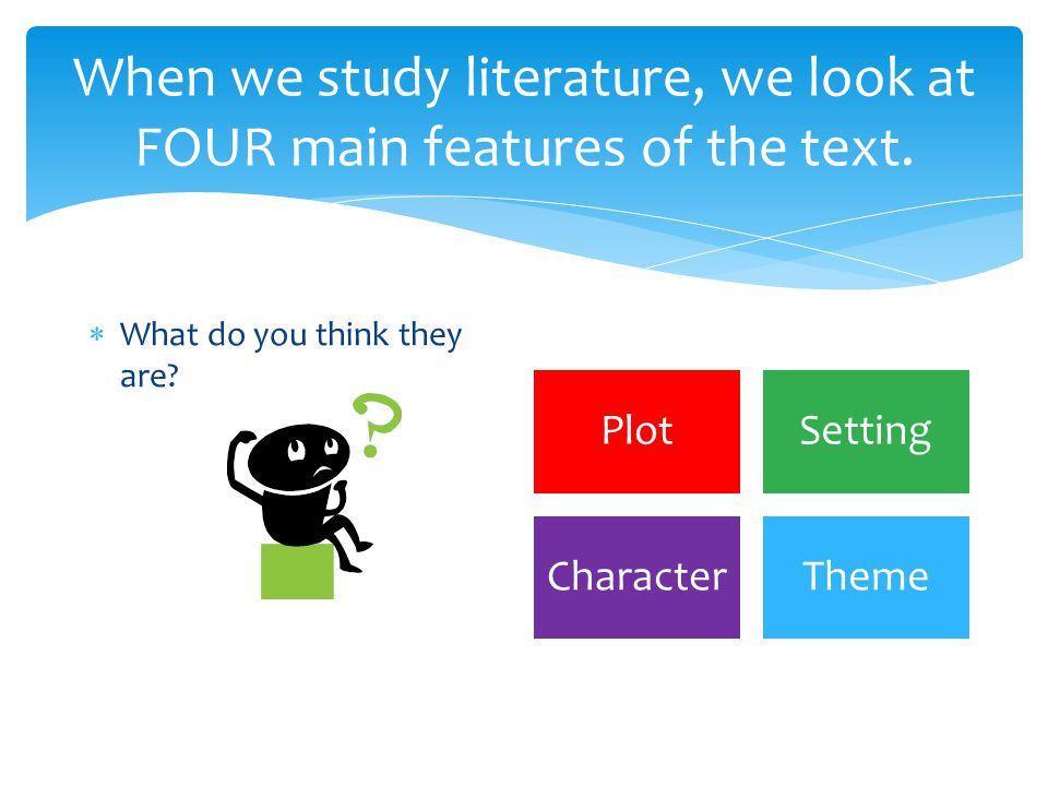 What does text mean? It is the general name we use for the different types of literature that you read and study. Name the kinds of literature which a
