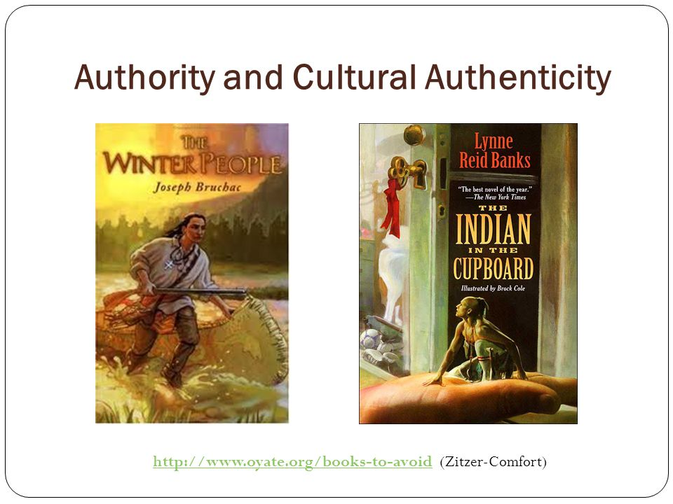 Authority and Cultural Authenticity   (Zitzer-Comfort)