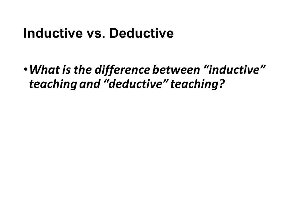 Inductive vs.